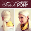 Tutorial Of A Pretty Simple But Charming French Twist Ponytail