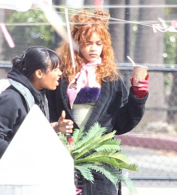 Rihanna Rocked Barely Recognizable Red Locks For A Music Video