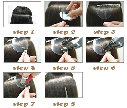 How to apply and remove fusion hair extensions pmusecretfo Choice Image