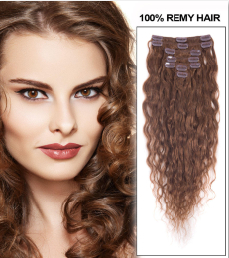 16-inch--6-light-brown-fine-clip-in-hair-extensions-loose-wavy-7-pcs-21594-t