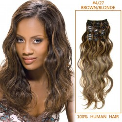26-inch--4-27-brown-blonde-stylish-clip-in-hair-extensions-body-wave-7-pcs-21475-t