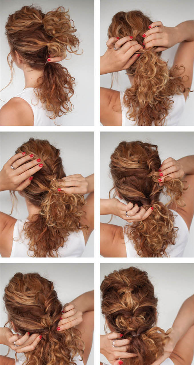 Peachy Pretty Curly Twisthairstyle Tutorial For Curly Hair Short Hairstyles Gunalazisus