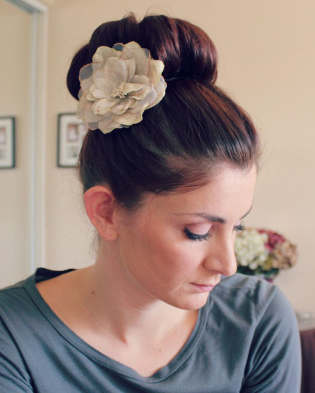 Chic Bun with Decoration