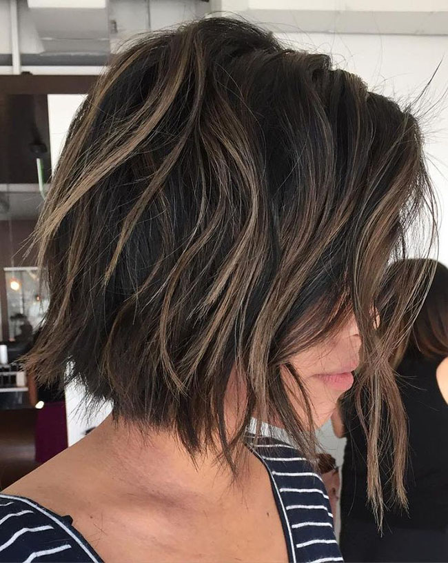Choppy Short and Medium Hairstyle