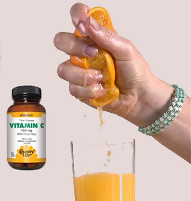 Take vitamin c or squeeze juice on hair