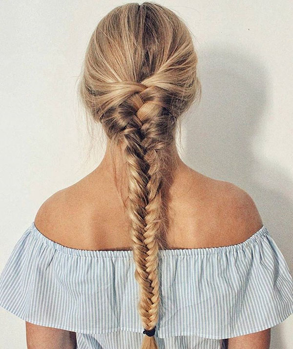 Topsy Fishtail Braid Hair