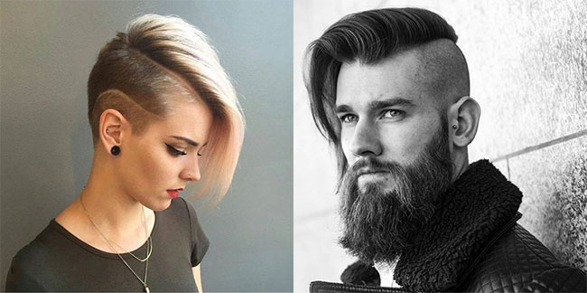 side cut hairstyles for unisex