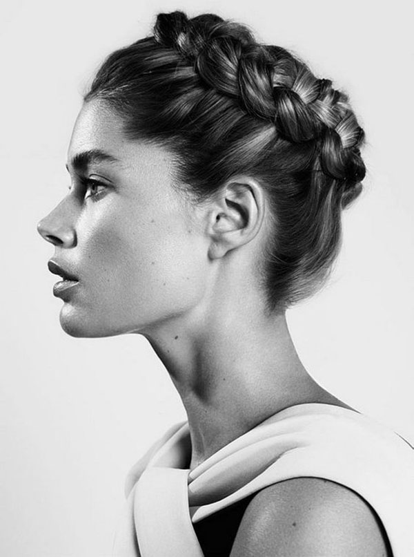 Classic Dutch Crown Braid Style