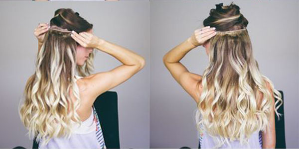 Clip in hair extensions are easy to install and remove