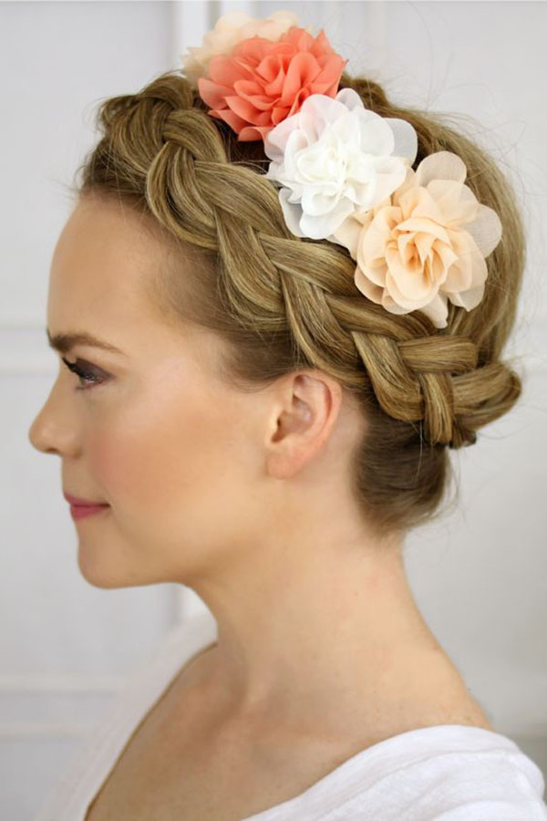 Sassy Dutch Crown Braid Hair Style