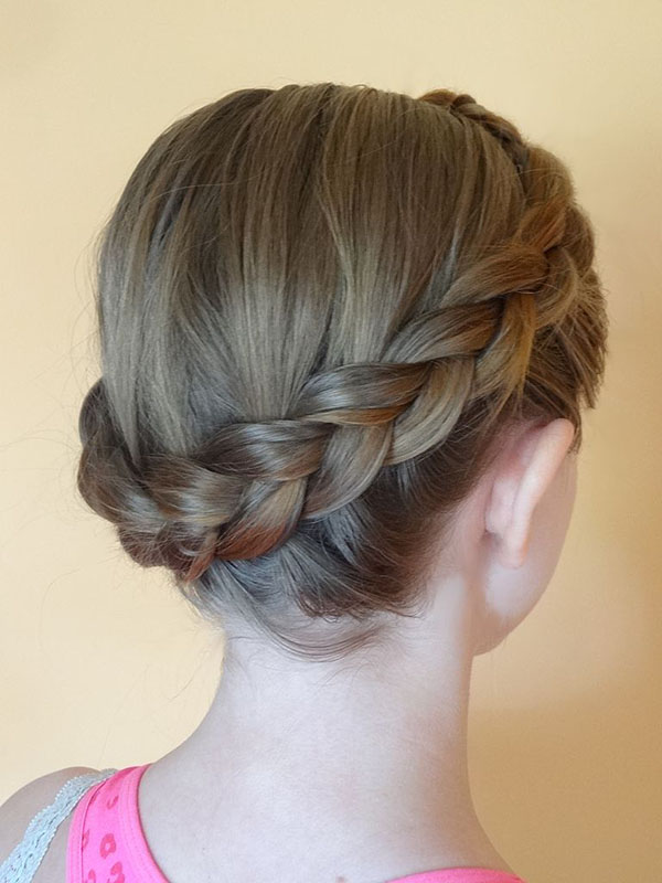 Sassy Dutch Crown Braid Style