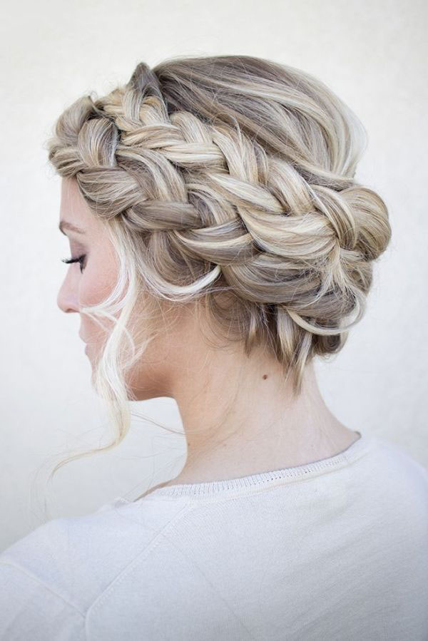 Sassy Messy Dutch Crown Braid Style